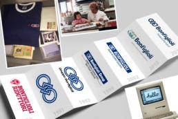 Anno dopo anno le nostre imprese sono cresciute assieme, i primi cataloghi realizzati per Bonfiglioli avevano i prodotti disegnati a mano, sì coi pennelli, l'aerografo e tanta Santa Pazienza.